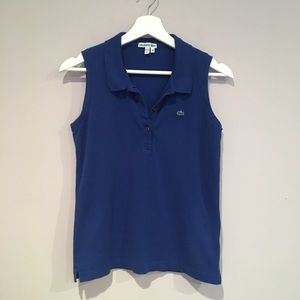 Lacoste sleeveless Polo.   Size M
